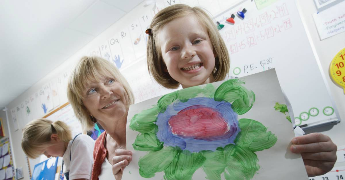 Kids WIth Painting Image